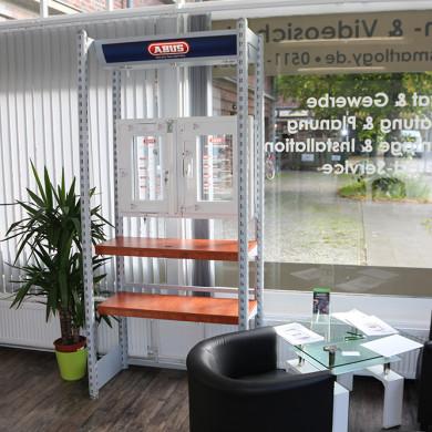 Geschäftsstelle - Ausstellung - Wartebereich / Abus