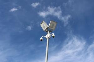 Überwachungsmast mit Kameras