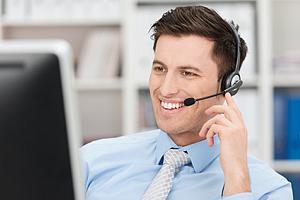 Kontakt zu einem freundlichen Mitarbeiter